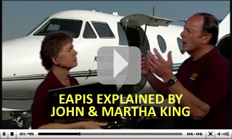John & Martha King explain eAPIS for international flights